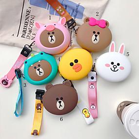 olcso Tokok-lány kézi érme pénztárca hordozható fejhallgató táska tároló táska aranyos rajzfilm szilikon zsinór