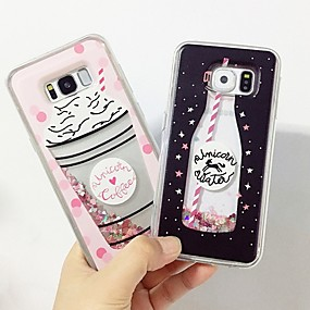 voordelige Galaxy A5(2016) Hoesjes / covers-hoesje Voor Samsung Galaxy A3 (2017) / A5 (2017) / A7(2016) Schokbestendig / Stofbestendig / Backup Achterkant Glitterglans Hard TPU / PC