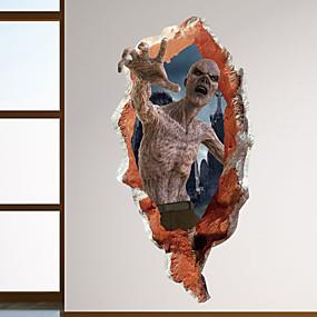 رخيصةأون ملصقات ديكور-هالوين الرعب الكسالى ملصقات الحائط - الكلمات&أمبير ؛ ampampamp يقتبس ملصقات الحائط الشخصيات دراسة غرفة / مكتب / غرفة الطعام / المطبخ