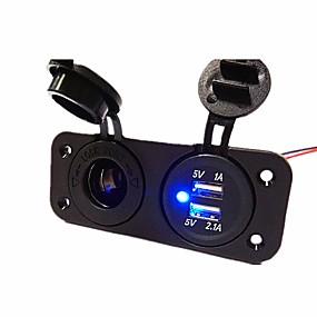Недорогие Автомобильные зарядные устройства-LOSSMANN Грузовик / Автомобиль Автомобильное зарядное устройство 2 USB порта для 5 V