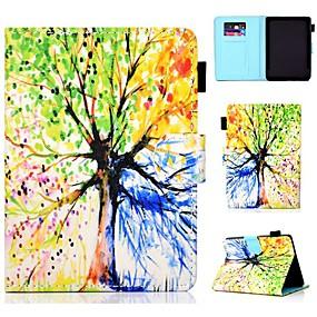 Недорогие Чехол для других планшетов-Кейс для Назначение KOBO kobo clara HD Бумажник для карт / Защита от удара / со стендом Чехол дерево Твердый Кожа PU