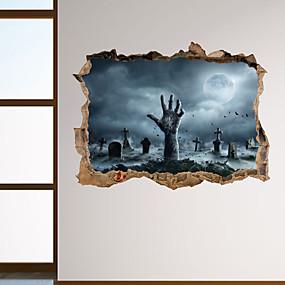 رخيصةأون ملصقات ديكور-لواصق حائط مزخرفة - لواصق حائط الطائرة / عطلة ملصقات الحائط Halloween غرفة الجلوس / غرفة النوم / مطبخ / قابل اعادة الوضع