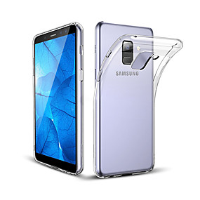 voordelige Galaxy A8 Hoesjes / covers-hoesje Voor Samsung Galaxy A8+ 2018 / A8 Schokbestendig / Stofbestendig Achterkant Transparant Zacht TPU / silica Gel