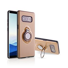 Недорогие Чехлы и кейсы для Galaxy Note 8-Кейс для Назначение SSamsung Galaxy Note 8 Кольца-держатели / Ультратонкий / Полупрозрачный Кейс на заднюю панель Однотонный силикагель