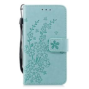 voordelige Galaxy S7 Hoesjes / covers-hoesje Voor Samsung Galaxy S9 / S9 Plus / S8 Plus Portemonnee / Kaarthouder / Schokbestendig Volledig hoesje Effen / Bloem PU-nahka