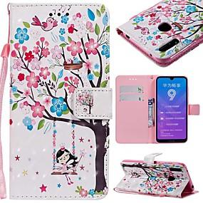 Недорогие Чехлы и кейсы для Huawei серии Y-Кейс для Назначение Huawei Huawei Nova 3i / Mate 10 / Mate 10 pro Кошелек / Бумажник для карт / Защита от удара Чехол дерево Твердый Кожа PU