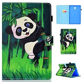 olcso Galaxy Tab E 9.6 tokok-Case Kompatibilitás Samsung Galaxy Tab 4 10.1 / Tab S4 10.5 (2018) / Galaxy Tab A2 10.5 (2018) T595 T590 Kártyatartó / Ütésálló / Állvánnyal Héjtok Panda Kemény PU bőr