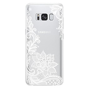 voordelige Galaxy S7 Edge Hoesjes / covers-hoesje Voor Samsung Galaxy S8 Plus / S8 / S8 Edge Stofbestendig / Patroon Achterkant Bloem Zacht TPU