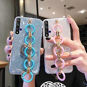 voordelige Galaxy S6 Edge Plus Hoesjes / covers-hoesje Voor Samsung Galaxy S9 / S9 Plus / S8 Plus Glitterglans Achterkant Glitterglans TPU
