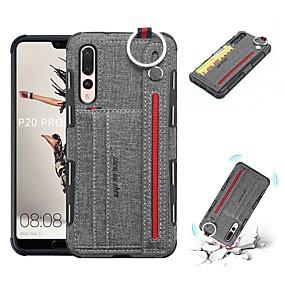 Недорогие Чехлы и кейсы для Huawei Mate-Кейс для Назначение Huawei Huawei P20 Pro / Huawei Honor 10 / Mate 10 lite Бумажник для карт / Защита от удара Кейс на заднюю панель Однотонный Мягкий Кожа PU