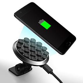 Недорогие Автомобильные зарядные устройства-360 градусов вращающийся на присоске беспроводной зарядное устройство держатель мобильного телефона