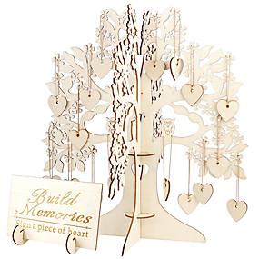 tanie Dekoracje metalowe-Yiwu pho_05ac drewniany 3d ślub zestaw dekoracji drzewo szyld drzewo [100 miłość zrębki]