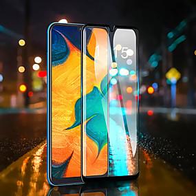 Недорогие Защитные пленки для Samsung-Защитная пленка для экрана Samsung Galaxy M10 / Galaxy M20 / Galaxy M30 Полностью закаленное стекло Защитная пленка для передней панели 1 шт. Высокое разрешение (HD) / Твердость 9 ч / Взрывозащищенный