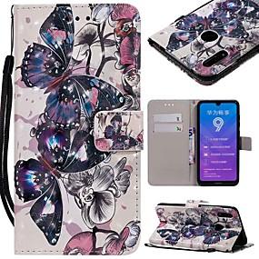 Недорогие Чехлы и кейсы для Huawei серии Y-Кейс для Назначение Huawei Huawei Nova 3i / Mate 10 / Mate 10 pro Кошелек / Бумажник для карт / Защита от удара Чехол Бабочка Твердый Кожа PU