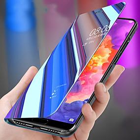 Недорогие Чехлы и кейсы для Huawei Mate-Кейс для Назначение Huawei Huawei P20 / Huawei P20 Pro / Huawei P20 lite Защита от удара / со стендом / Зеркальная поверхность Чехол Однотонный ПК / P10 Plus / P10 Lite / P10 / Mate 9 Pro