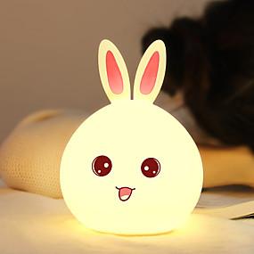 رخيصةأون مصابيح ليد مبتكرة-1PC Rabbit ضوء ليلي / الصمام ليلة الخفيفة USB بديع / محبوب / عيد ميلاد 5 V