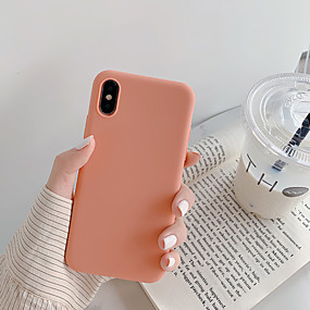voordelige iPhone 8 Plus hoesjes-hoesje Voor Apple iPhone XS / iPhone XR / iPhone XS Max Stofbestendig / Ultradun Achterkant Effen / Cartoon TPU
