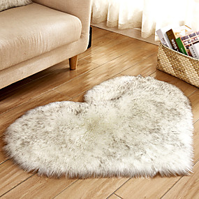 cheap Mats & Rugs-Soft Artificial Plush Rug Chair Cover Warm Hairy Carpet Seat Pad Modern Style Home Decoration