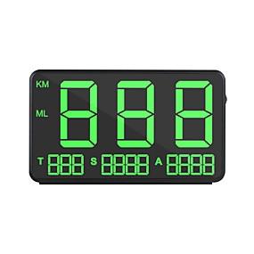 Недорогие Автоэлектроника-ziqiao czzj c80 gm hps hud дисплей скорости автомобиля км / ч mph head up display лобовое стекло цифровой проектор скорости автомобиля