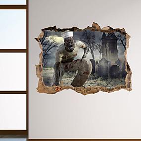 رخيصةأون ملصقات ديكور-لواصق حائط مزخرفة - عطلة ملصقات الحائط / الناس ملصقات الحائط Halloween غرفة الجلوس / غرفة النوم / مطبخ / قابل اعادة الوضع