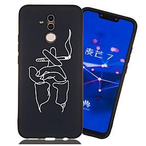 Недорогие Чехлы и кейсы для Huawei Mate-Кейс для Назначение Huawei Huawei Honor 10 / Honor 10 Lite / Huawei Honor 9 Lite Защита от удара / Матовое / С узором Кейс на заднюю панель Плитка Мягкий ТПУ