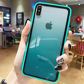 رخيصةأون تسوق حسب موديل الهاتف-غطاء من أجل Apple iPhone XS / iPhone XR / iPhone XS Max نموذج غطاء خلفي لون متغاير زجاج مقوى