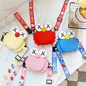 olcso Tokok-lány kézibeszélő egy váll két célból érme pénztárca hordozható fejhallgató táska tároló táska aranyos rajzfilm szilikon hosszú rövid telefon pánt két
