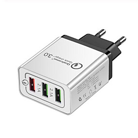 رخيصةأون شواحن USB-شاحن يو اس بي LITBest 3U 3 مكتب محطة شاحن مع الشحن السريع 3.0 USB محول الشحن