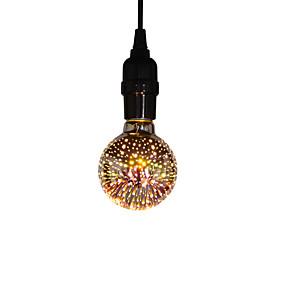 رخيصةأون مصابيح خيط ليد-1PC 6 W مصابيحLED 400 lm E26 / E27 G80 25 الخرز LED مصلحة الارصاد الجوية حزب ديكور عيد الميلاد الديكور الزفاف أبيض دافئ 85-265 V / بنفايات