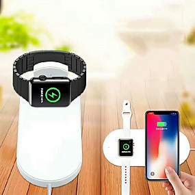 cheap Samsung Galaxy S10 Plus-2 in 1 Universal IQ Wireless Charger for iphone 11 X 8 Plus XR XS MAX for Apple Watch Series iWatch 1 2 3 4 5 Fast Wireless Charger USB Wireless Charger 1.67 A DC 9V