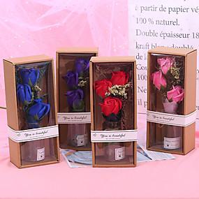 رخيصةأون أزهار اصطناعية-زهور اصطناعية 1 فرع كلاسيكي كلاسيكي الحديث الورود ورادت ناعمة أزهار الطاولة