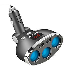 Недорогие Автомобильные зарядные устройства-3-х канальный мульти прикуриватель удлинитель разъема USB зарядное устройство DC12V
