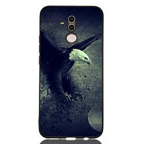 voordelige Huawei Honor hoesjes / covers-hoesje voor huawei honor 10 / honor 10 lite / honor 9 lite schokbestendig / frosted / patroon achterkant dier tpu zacht voor huawei honor 8a / honor v9 spelen / mate 20 lite / mate 20 pro / mate 10