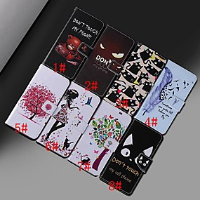 Недорогие Чехлы и кейсы для Huawei Mate-Кейс для Назначение Huawei Huawei Nova 3i / Honor 10 Lite / Huawei Honor 8X Кошелек / Бумажник для карт / Защита от удара Чехол Животное / дерево Твердый Кожа PU