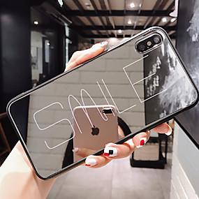 Недорогие Чехлы и кейсы для Huawei Mate-Кейс для Назначение Huawei Huawei Nova 4 / Huawei nova 4e / Huawei P20 Защита от пыли / Зеркальная поверхность / С узором Кейс на заднюю панель Слова / выражения ТПУ / Закаленное стекло