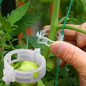 olcso Kerti szerszámok-50db növényi szőlő fix rögzített csat kötőkötél horgot mezőgazdasági üvegházhatást okozó zöldség szerkentyű kerti műanyag ültetvény trelli