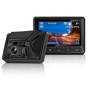 Недорогие Видеорегистраторы для авто-Видеорегистратор junsun s390 4k 2880 * 2160p Ultra HD ночного видения Sony IMX335 Встроенный GPS Wi-Fi Автомобильный видеорегистратор Камера видеорегистратор видеорегистратор