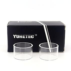 abordables Cigarrillo electrónico-el tubo de cristal del reemplazo de yuhetec para aspire pockex pocket aio 2ml 2pcs