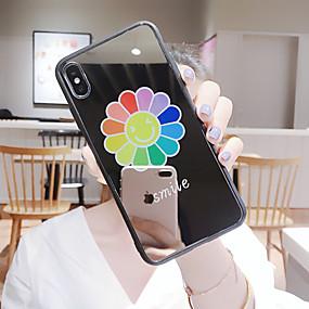 Недорогие Чехлы и кейсы для Huawei Mate-Кейс для Назначение Huawei Huawei Nova 4 / Huawei nova 4e / Huawei P20 Защита от пыли / Зеркальная поверхность / С узором Кейс на заднюю панель Мультипликация ТПУ / Закаленное стекло