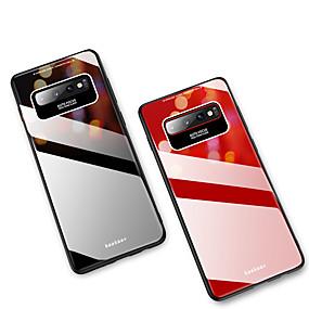 Недорогие Чехлы и кейсы для Galaxy Note 8-Кейс для Назначение SSamsung Galaxy Note 9 / Note 8 Зеркальная поверхность Кейс на заднюю панель Однотонный Твердый Закаленное стекло