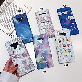 Недорогие Чехлы и кейсы для Galaxy Note 8-Кейс для Назначение SSamsung Galaxy Note 9 / Note 8 Сияние в темноте / С узором Кейс на заднюю панель Мультипликация / Цветы Твердый ПК