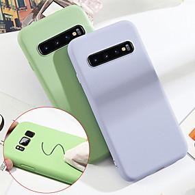 voordelige Galaxy S7 Edge Hoesjes / covers-hoesje Voor Samsung Galaxy S9 / S9 Plus / S8 Plus Schokbestendig Achterkant Effen Zacht TPU / Siliconen / Katoen