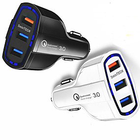 voordelige Autoladers-snelle snelle autolader (3 poorten) usb (16w / 5912v / 3.2a) voor Android-iPhone