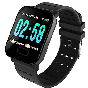 cheap Smart Watches-Smartwatch Digital Modern Style Sporty Silicone 30 m Water Resistant / Waterproof Heart Rate Monitor Bluetooth Digital Casual Outdoor - Black Blue Red