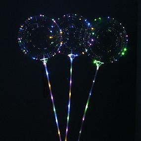 povoljno LED noćna rasvjeta-5pcs višekratnu upotrebu svjetleće vodio balon okrugli mjehurić dekoracija vjenčanje infantiles rođendan dekor
