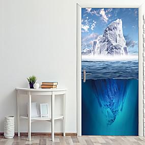 povoljno Ukrasne naljepnice-more ledenjak vrata naljepnice ukrasni vodootporna vrata decal dekor