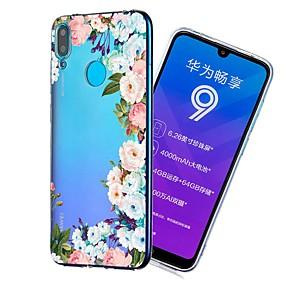 Недорогие Чехлы и кейсы для Huawei серии Y-Кейс для Назначение Huawei Huawei Nova 3i / Huawei nova 4e / Y7 Prime (2018) Защита от удара / Прозрачный / С узором Кейс на заднюю панель Цветы Мягкий ТПУ