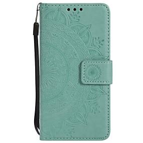 رخيصةأون Galaxy S5 أغطية / كفرات-غطاء من أجل Samsung Galaxy S6 edge / S6 / S5 محفظة / ضد الصدمات / قلب غطاء كامل للجسم زهور قاسي جلد PU
