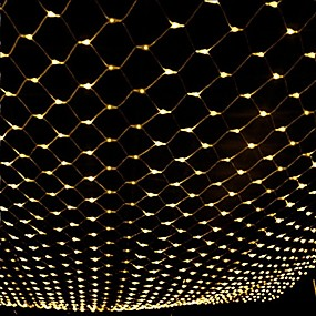 رخيصةأون أضواء شريط LED-3 متر * 2 متر 200 المصابيح صافي أضواء أضواء الستار whitewarm whitebluemulti اللون حزب الزخرفية للربط 220-240 فولت 1 قطعة