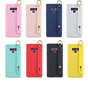 Недорогие Чехлы и кейсы для Galaxy Note 8-Кейс для Назначение SSamsung Galaxy Note 9 / Note 8 со стендом / Матовое Кейс на заднюю панель Однотонный ТПУ